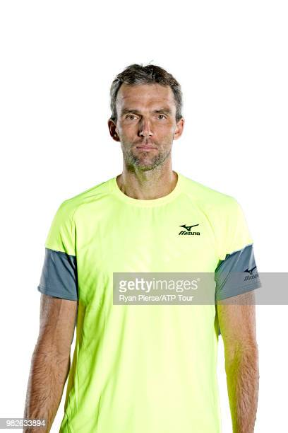 Ivo Karlovic of Croatia poses for portraits during the Australian Open at Melbourne Park on January 12 2018 in Melbourne Australia