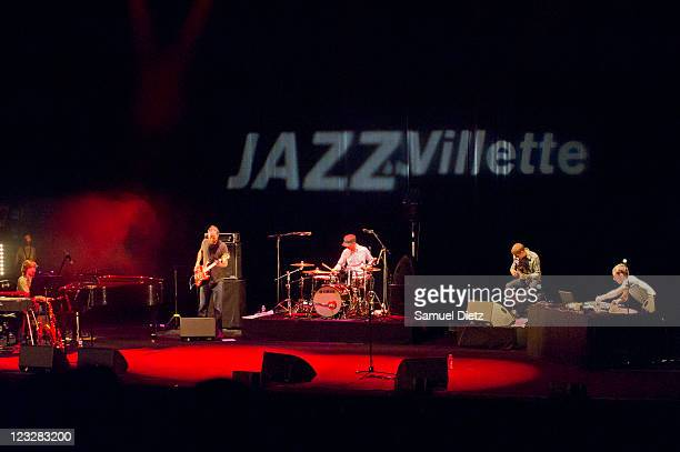 Ivo Neame, Phil France, Richard Spaven, Stuart McCallum and Jason Swinscoe of Cinematic Orchestra perform live during the Festival Jazz A La Villette...