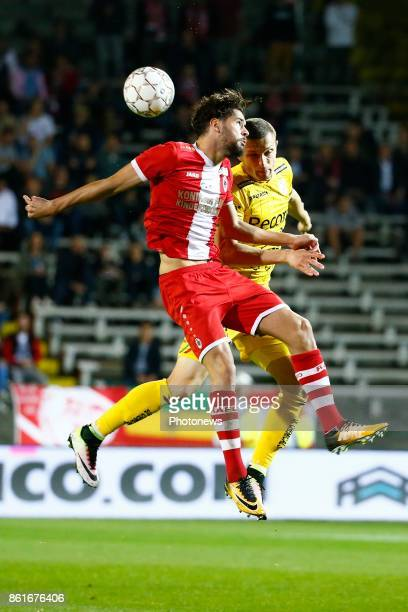 Ivo Rodrigues forward of Antwerp FC and Timothy Derijck defender of SV Zulte Waregem pictured during the Jupiler Pro League match between Royal...