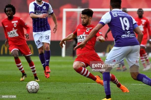Ivo Rodrigues forward of Antwerp FC during the Jupiler Pro League play off 2 match between Royal Antwerp FC and Beerschot Wilrijk on April 15 2018 in...