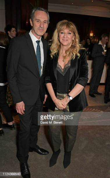 Ivo van Hove and Sonia Friedman attend the press night after party for All About Eve at The Waldorf Hilton on February 12 2019 in London England