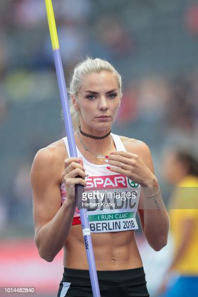 Ivona Dadic of Austria competes in the javelin event of the women's pentathlon on August 10 2018 in Berlin Germany