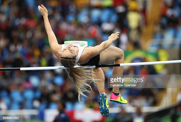 Ivona Dadic of Austria competes in the Women's Heptathlon High Jump on Day 7 of the Rio 2016 Olympic Games at the Olympic Stadium on August 12 2016...