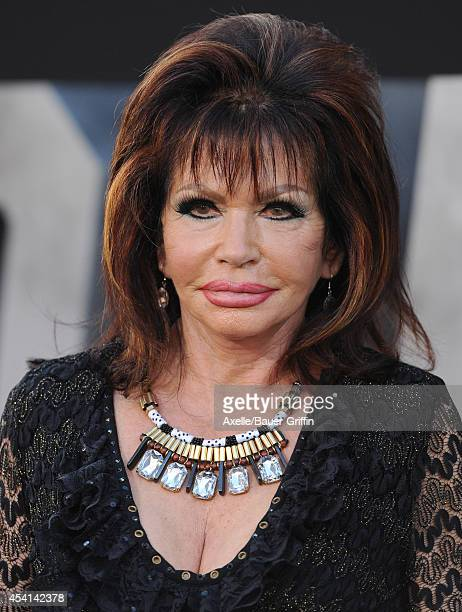 Astrologer Jackie Stallone arrives at the Los Angeles premiere of 'The Expendables 3' at TCL Chinese Theatre on August 11 2014 in Hollywood California