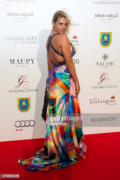 Ivonne Armant attends the Global Gift Gala 2016 red carpet at Gran Melia Don pepe Resort on July 17 2016 in Marbella Spain