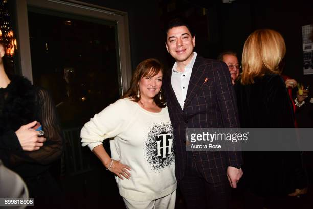 Ivonne Camacho and Malan Breton attend Tracy Stern hosts holiday party at private townhouse in Hell's Kitchen at Private Residence on December 14...