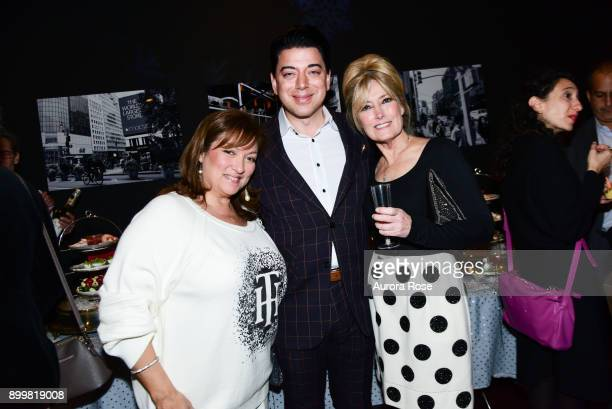 Ivonne Camacho Malan Breton and Sue Vaccaro attend Tracy Stern hosts holiday party at private townhouse in Hell's Kitchen at Private Residence on...