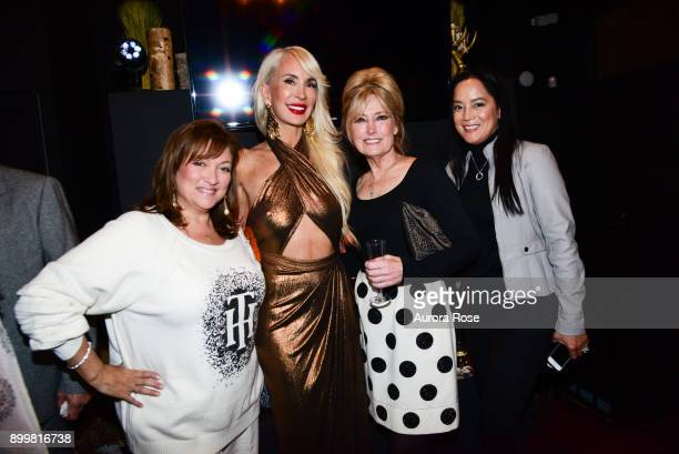 Ivonne Camacho Tracy Stern Sue Vaccaro and Cassandra Seidenfeld attend Tracy Stern hosts holiday party at private townhouse in Hell's Kitchen at...