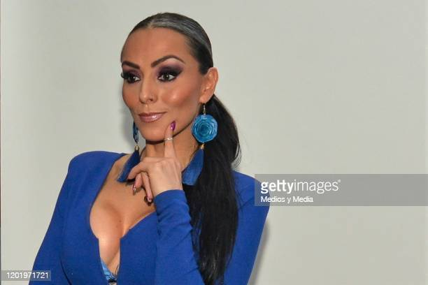 Ivonne Montero poses for photos during a photocall for the play 'El Ultimo Dia de Mi Vida' at Tepeyac on January 25 2020 in Mexico City Mexico