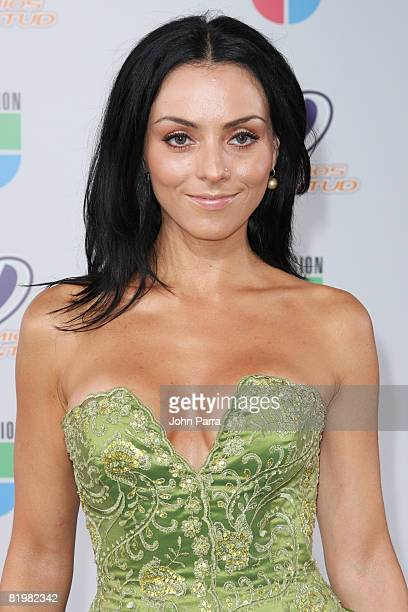 Ivonne Montero poses on the red carpet at the Premio Juventud Awards at Bank United Center on July 17 2008 in Miami Florida