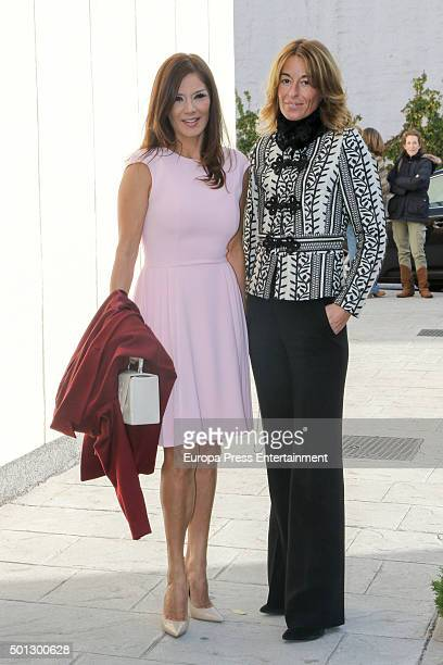Ivonne Reyes and Monica Martin Luque attend the Christening of Juan Pena and Sonia Gonzalez 's son Tristan Pena on December 10 2015 in Madrid Spain