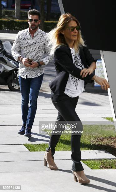 Ivonne Reyes and Sergio Ayala are seen on March 18, 2017 in Madrid, Spain.