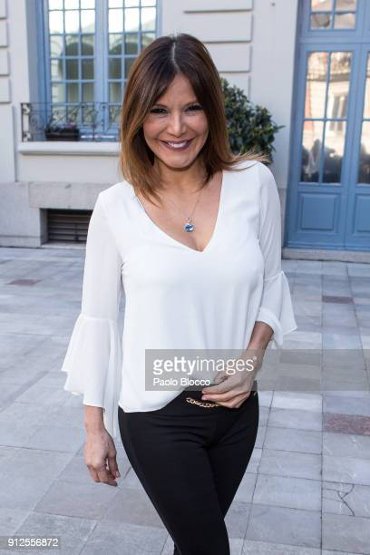 Ivonne Reyes arrives at 'The Petite Special Day' fashion show at the Santo Mauro Hotel on January 31 2018 in Madrid Spain