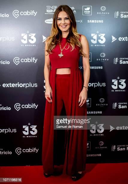 Ivonne Reyes attends during '33 El Musical ' Premiere in Madrid on November 22, 2018 in Madrid, Spain.