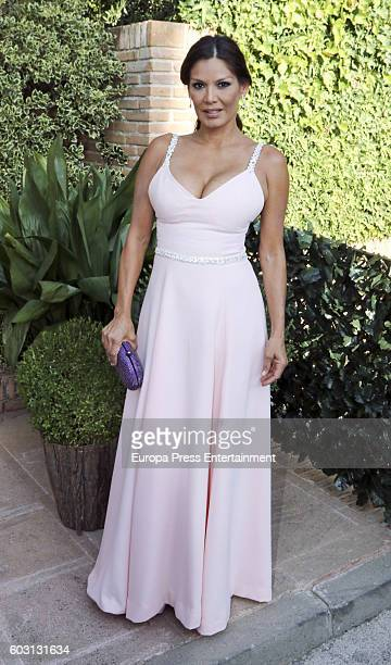 Ivonne Reyes attends Emiliano Suarez and Carola Baleztena's wedding party on September 9 2016 in Madrid Spain