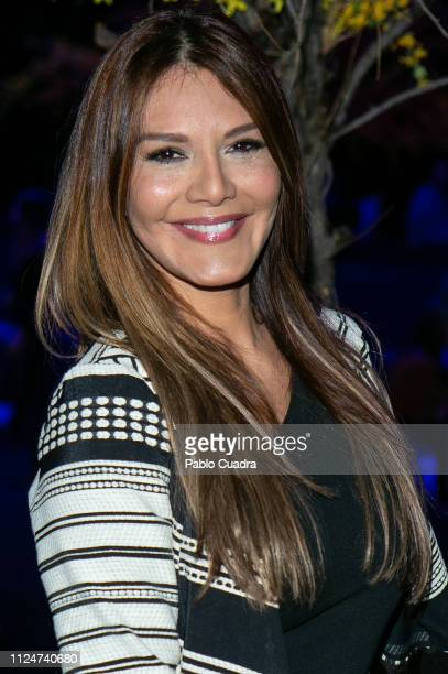 Ivonne Reyes attends Hannibal Laguna fashion show during the Mercedes Benz Fashion Week Autumn/Winter 2019-2020 at Ifema on January 25, 2019 in...
