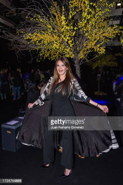 Ivonne Reyes attends Hannibal Laguna fashion show during the Mercedes Benz Fashion Week Autumn/Winter 20192020 at Ifema on January 25 2019 in Madrid...
