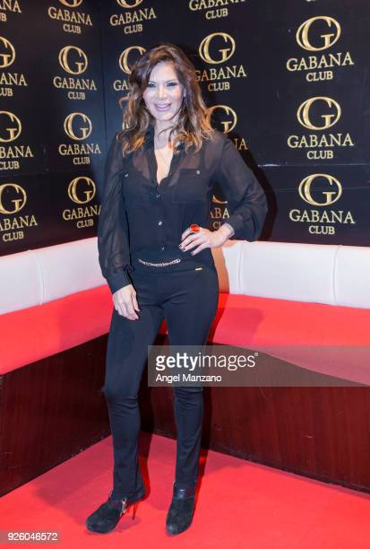 Ivonne Reyes attends Juan Pena's birthday celebration party at Gabana club on March 1 2018 in Madrid Spain