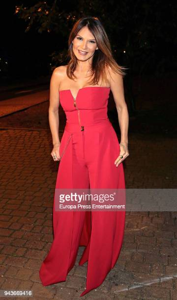 Ivonne Reyes attends the Alejandro Reyes's 18th birthday on April 6 2018 in Madrid Spain