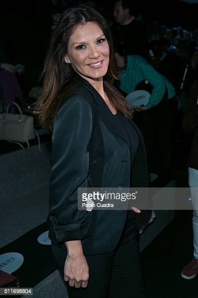 Ivonne Reyes attends the front row of Devota Lombas how during the MercedesBenz Madrid Fashion Week Autumn/Winter 2016/2017 at Ifema on February 22...