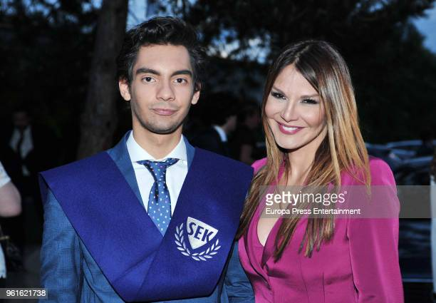Ivonne Reyes attends the graduation ceremony of his son Alejandro Reyes on May 22 2018 in Madrid Spain