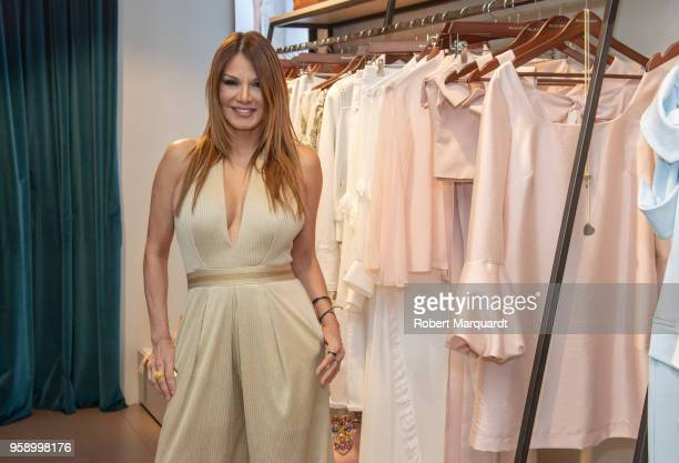 Ivonne Reyes attends the Pilar Oporto summer collection presentation at the Pilar Oporto store on May 15 2018 in Barcelona Spain
