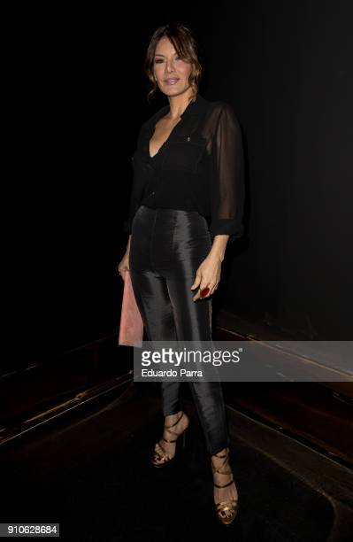 Ivonne Reyes is seen at the Hannibal Laguna show during Mercedes-Benz Fashion Week Madrid Autumn/ Winter 2018-19 at Ifema on January 26, 2018 in...