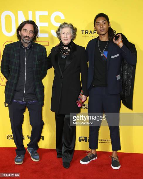 Ivor Guest Viscountess Wimborne and Paulo Goude attend the 'Grace Jones Bloodlight And Bami' UK premiere at BFI Southbank on October 25 2017 in...