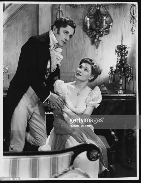 Ivor Novello and Roma Beaumont in a scene from Perchance to Dream at the London Hippodrome 1945