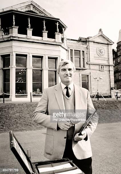 Ivor Robson the Official Announcer during the Dunhill Cup golf competition held at the Old Course at St Andrews in Scotland circa October 1988
