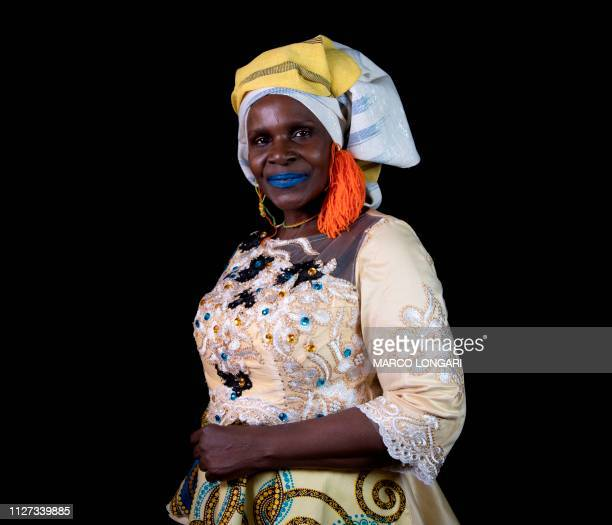 """Ivorian actress Naky Sy Savane poses for a photo session in Ouagadougou, on February 24, 2019 during the """"Nuit des stars"""" event as part of the 2019..."""