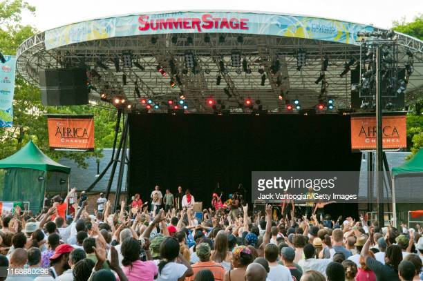 Ivorian Reggae musician Alpha Blondy performs onstage at Central Park SummerStage, New York, New York, July 19, 2009.