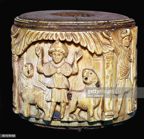 Ivory box made in Egypt showing Daniel in the lion's den 6th7th century From the British Museum's collection