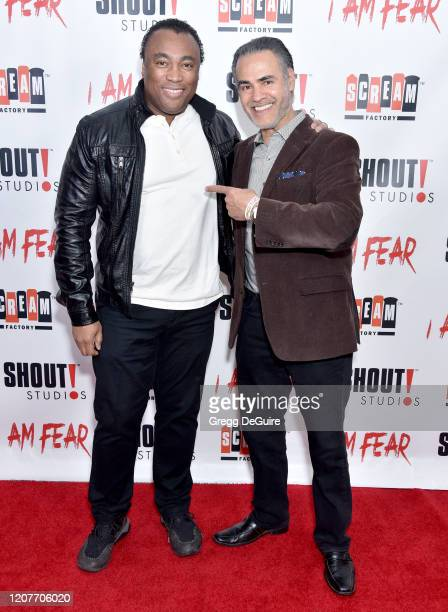 """Ivory Broome and Ali Saam attend the Los Angeles Premiere of Roxwell Films """"I Am Fear"""" at Laemmle Monica Film Center on February 20 2020 in Santa..."""
