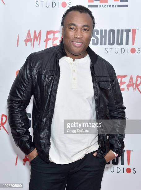 """Ivory Broome attends the Los Angeles Premiere of Roxwell Films """"I Am Fear"""" at Laemmle Monica Film Center on February 20 2020 in Santa Monica..."""