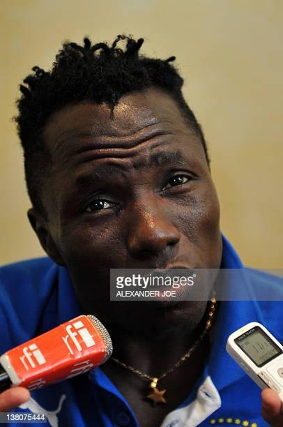 Ivory Coast born Equatorial Guinea midfielder Ben Konate talks in Malabo on February 1, 2012. Equatorial Guinea will pay Ivory Coast in a quarter...