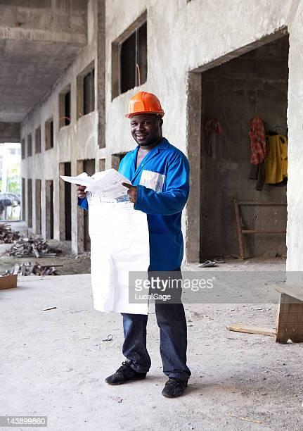 Ivory Coast Builder at Work