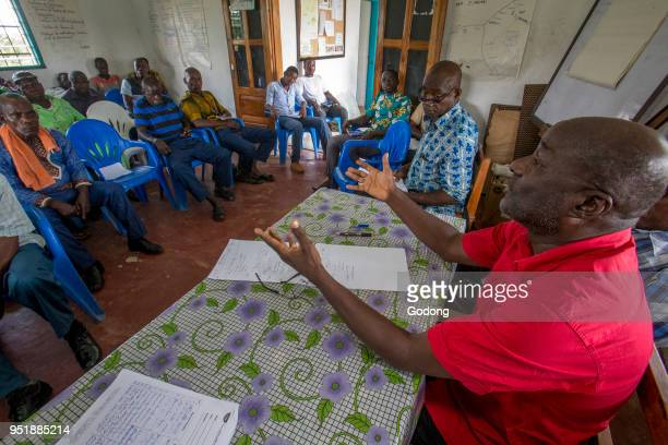 Ivory Coast Cocoa producers' cooperative meeting