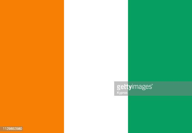ivory coast flag - côte d'ivoire stock pictures, royalty-free photos & images