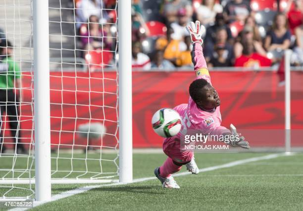 Ivory Coast goalkeeper Dominique Thiamale fails to stop Germany's Alexandra Popp's freekick during their 100 demolition of the African firsttimers in...