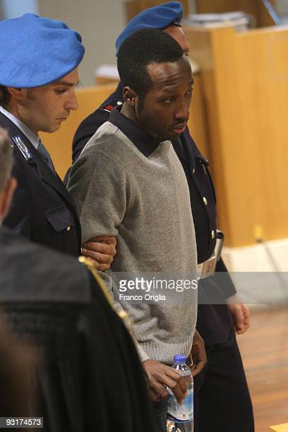 Ivory Coast man Rudy Guede arrives at the Perugia courthouse for the sitting of his appeal against the sentence he received in the Meredith Kercher...