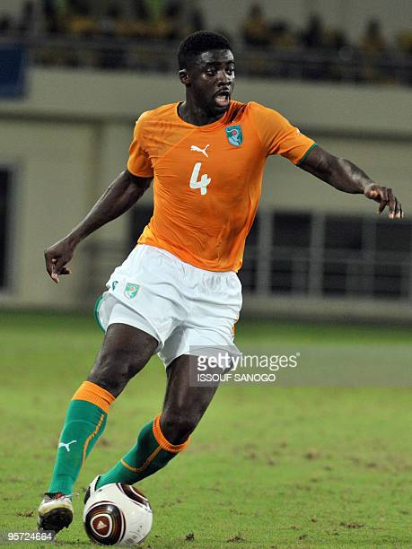 Ivory Coast National football team defender Habib Kolo Toure controls the ball on January 11 2010 during their African Cup of Nations CAN2010 group...