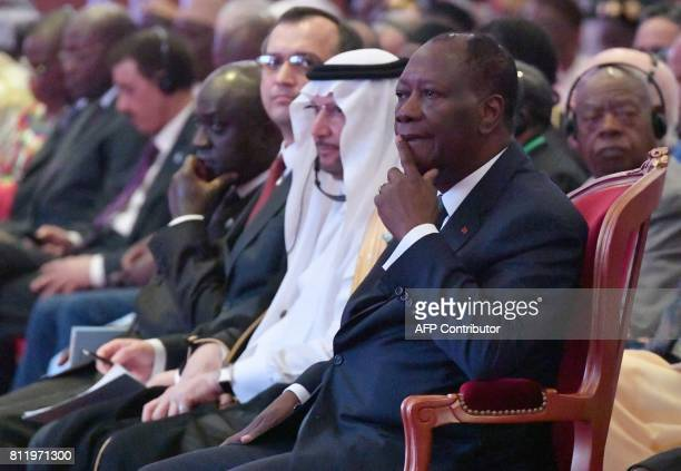 Ivory Coast President, Alassane Ouattara attends the opening of the 44th meeting of the Ministers of Foreign Affairs of the Organisation of Islamic...