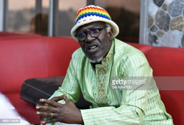 Ivory Coast reggae singer Alpha Blondy speaks during an interview with AFP in Abidjan on June 14 2017 Blondy on June 14 has called for a general...