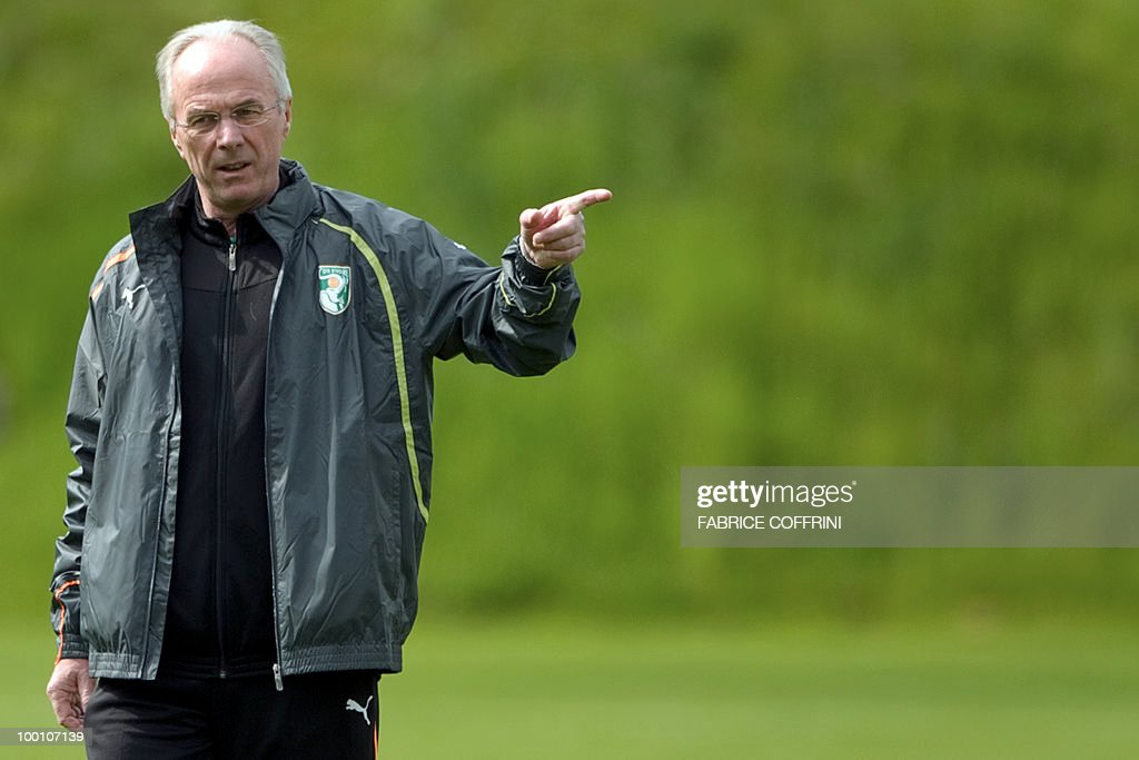 Ivory Coast team coach Sven-Goran Eriksson of Sweden gestures during a press conference on May 20, 2010 in Montreux, Switzerland, ahead of the FIFA World Cup 2010 finals in South Africa. A high-profile casualty is inevitable in Group G at the World Cup with Brazil, Portugal and Ivory Coast fight for two places while North Korea concentrate on damage limitation.