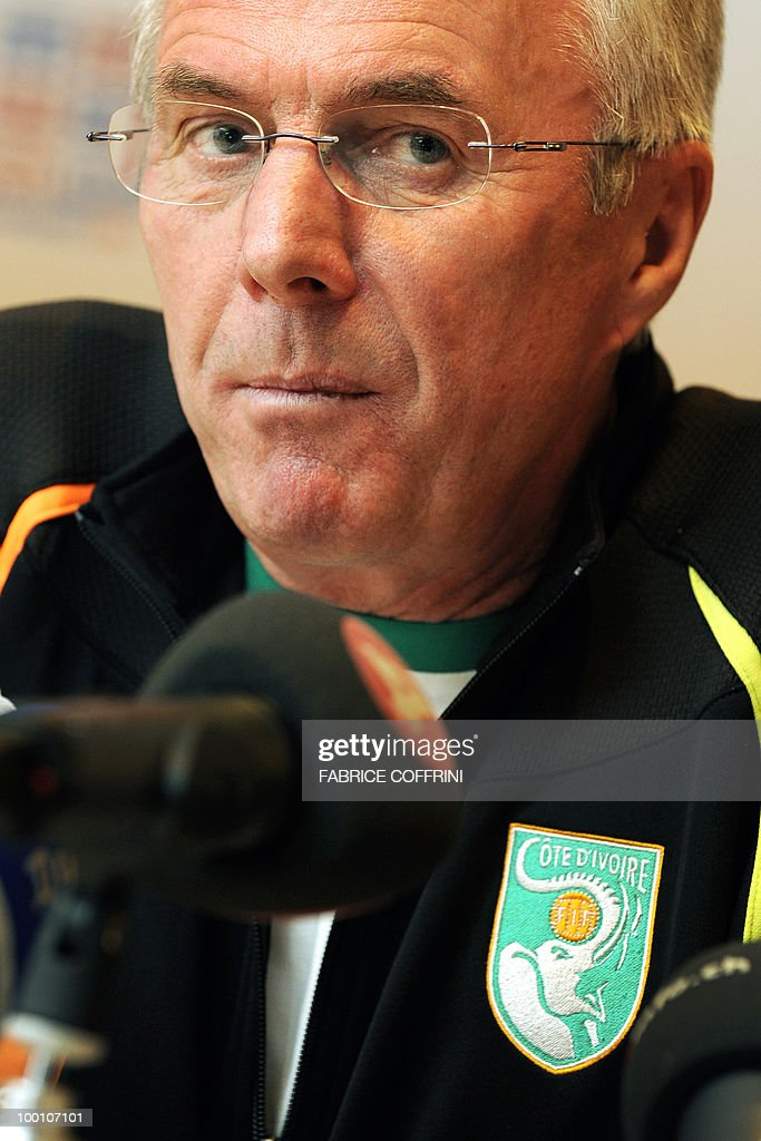 Ivory Coast team coach Sven-Goran Eriksson of Sweden looks on during a press conference on May 20, 2010 in Montreux, Switzerland, ahead of the FIFA World Cup 2010 finals in South Africa. The 62-year-old Swede recently put in charge of Didier Drogba-skippered Ivory Coast must face both Brazil and Portugal during the first round next month in what is widely regarded as the toughest of the eight first-round groups in South Africa.