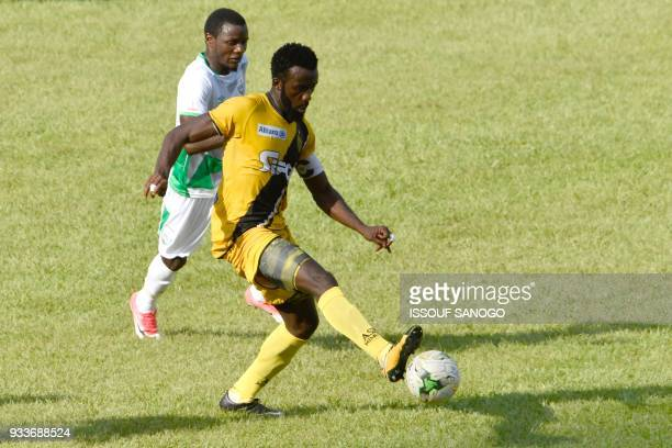 Ivory Coast's Ange Beresi controls the ball during the Confederation of African Football Champions League match between Asec d'Abidjan and Zesco...