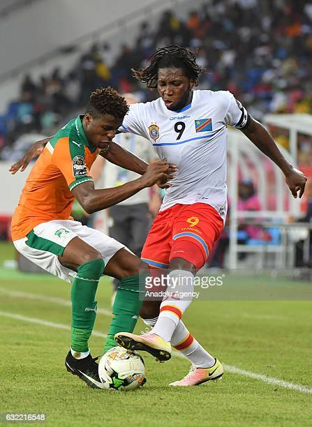 Ivory Coast's Bailly vies for the ball against Republic of the Congo's Mbokani during the African Cup of Nations Group C soccer match between Ivory...