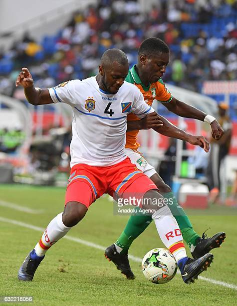 Ivory Coast's Gradel vies for the ball against Republic of the Congo's Ikoko during the African Cup of Nations Group C soccer match between Ivory...