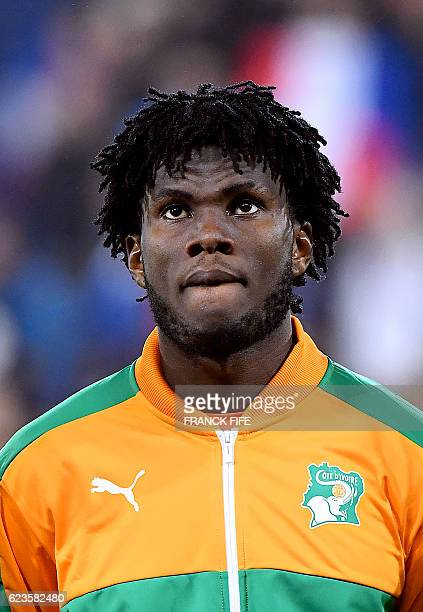 Ivory Coast's midfielder Franck Kessie poses ahead of the friendly football match France vs Ivory Coast on November 15 2016 at the Bollaert stadium...